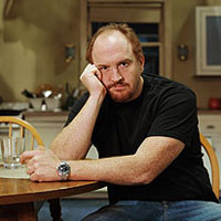 Louis CK on the set of his new show