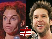 Carrot Top Does Not Equal Dane Cook