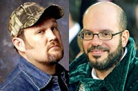 Larry the Cable Guy and David Cross
