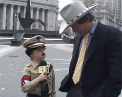 Wonder Showzen Boy as Hitler Interviewing Man on Street